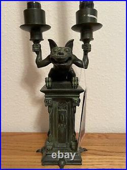 Haunted Mansion Gargoyle Candle Holder Disney Memento Mori Disneyworld