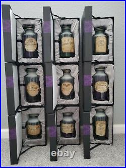 Haunted Mansion Host A Ghost Spirit Jar Set 50th Anniversary Complete Set 9