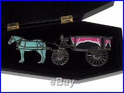 JUMBO LE Disney Pin Haunts Haunted Mansion Horse Hearse Deadly Delivery Coffin