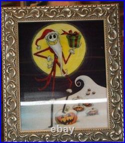 Jack Skellington (Santa Jack) Lenticular Framed Haunted Mansion Holiday Picture
