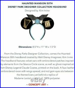 Limited! Disney Haunted Mansion 50th Designer Collection Minnie Ears Headband