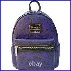 Loungefly Disney Parks Disneyland Haunted Mansion Wallpaper Mini Backpack Bag