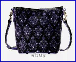NEW Disney Parks The Haunted Mansion Wallpaper Dooney And Bourke Crossbody Bag