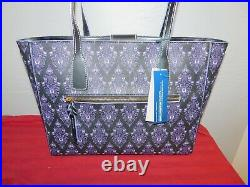 NWT 2020 Disney Parks Dooney And Bourke Haunted Mansion Purple Wallpaper Tote