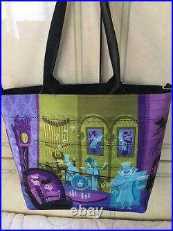 NWT Disney Harveys Haunted Mansion Seatbelt Medium Streamline Tote Bag