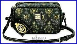 NWT Disney Parks Dooney & Bourke Haunted Mansion 50th Anniversary Cross Body Bag