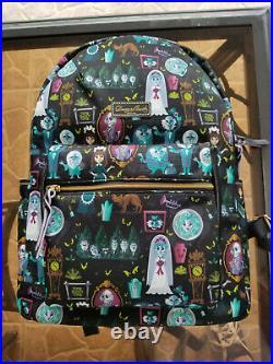 NWT Disney Parks Dooney & Bourke Haunted Mansion Backpack Bride, Leota Ghosts