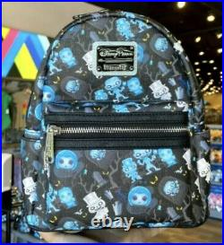 NWT Disney Parks Loungefly 2021 The Haunted Mansion Mini Backpack Bag IN HAND