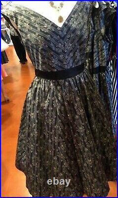 NWT Disney Parks Womens Dress Shop Haunted Mansion Wallpaper Dress RETIRED