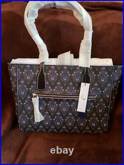 New 2020 Disney Parks Dooney And Bourke Haunted Mansion Purple Wallpaper Tote