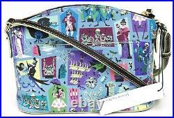 New Disney Parks Dooney & Bourke The Haunted Mansion Blue Crossbody Purse E