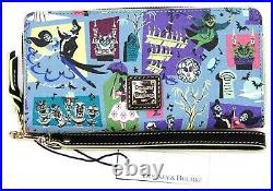 New Disney Parks Dooney & Bourke The Haunted Mansion Blue Wristlet Wallet F