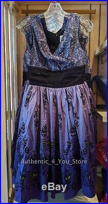 New Disney Parks Haunted Mansion 50th Anniversary Dress Shop Wallpaper Dress XS
