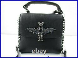 New Disney Parks Haunted Mansion Gargoyle Bat Black Purse Bag Dress Shop