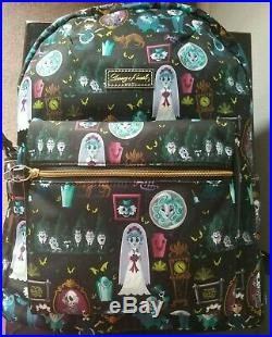 New Perfect Centered Placement Disney Dooney & Bourke Haunted Mansion 2019 Nylon