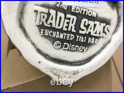 Qty 2 Disneyland Trader Sams Haunted Mansion Hatbox Ghost Tiki Mug 2nd Edition