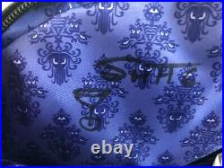 SIGNED x 2 Disney SHAG Haunted Mansion Leota Crystal Ball Harveys Seatbelt Purse