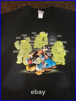 Vintage Disney World Haunted Mansion Black Watch Out Shirt size XXL