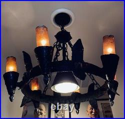 Vintage Disney World Haunted Mansion Hanging Chandelier Prop
